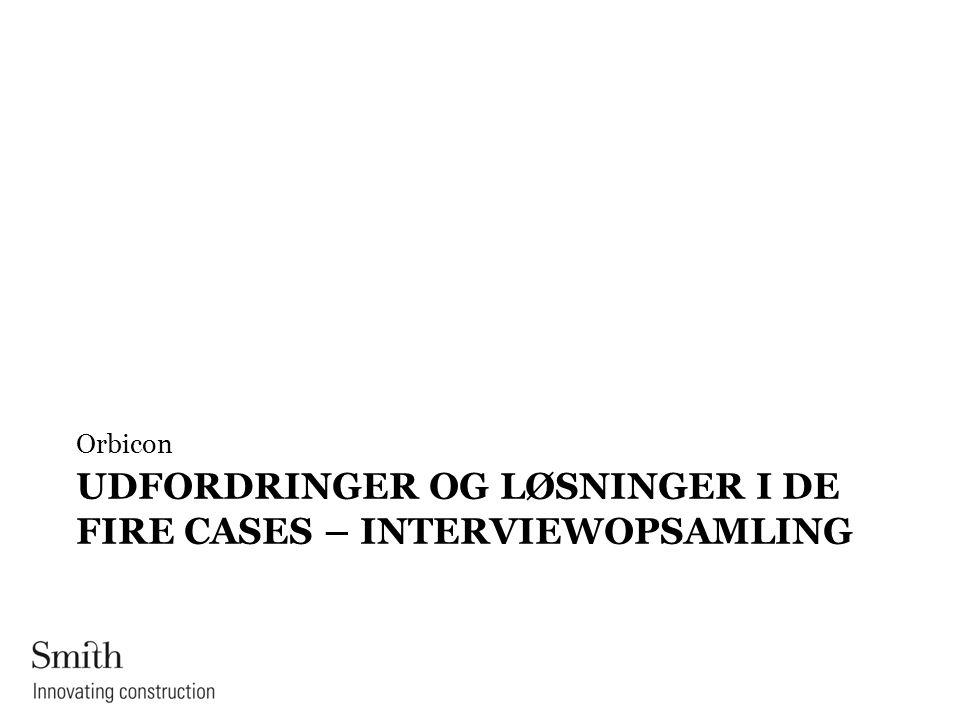 Udfordringer og løsninger i de fire cases – interviewopsamling