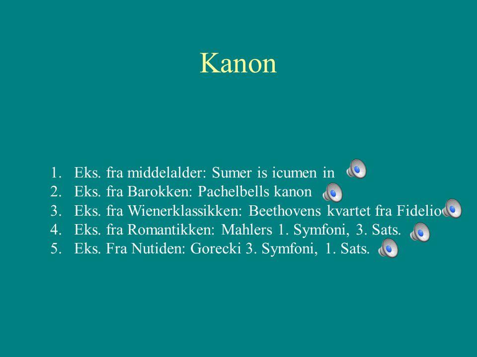 Kanon Eks. fra middelalder: Sumer is icumen in
