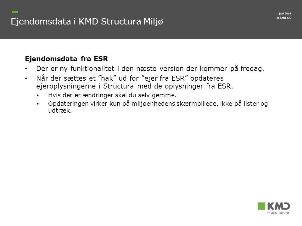 Ejendomsdata i KMD Structura Miljø