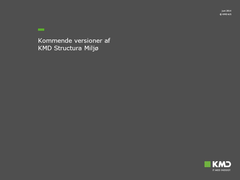 Kommende versioner af KMD Structura Miljø