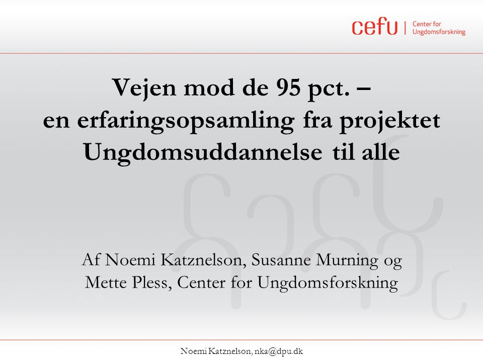 Noemi Katznelson, nka@dpu.dk