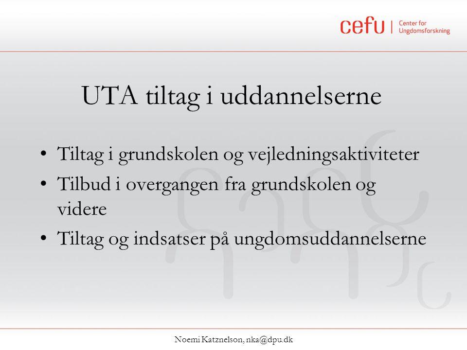 UTA tiltag i uddannelserne