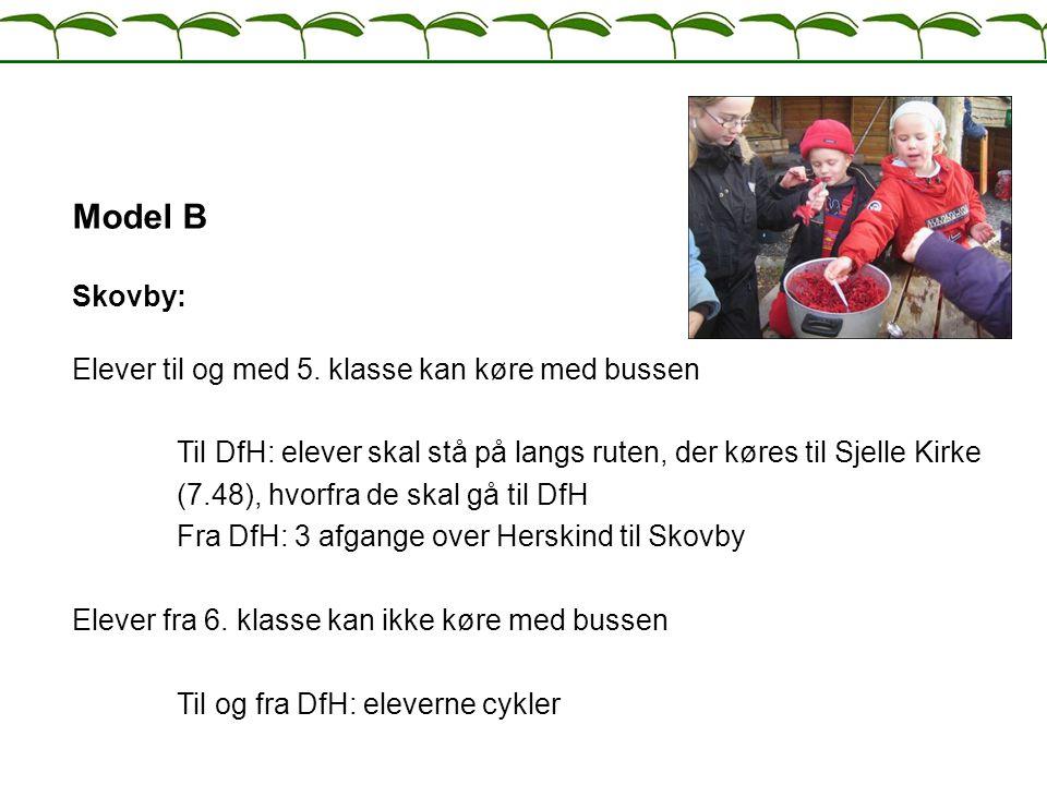 Model B Skovby: Elever til og med 5. klasse kan køre med bussen