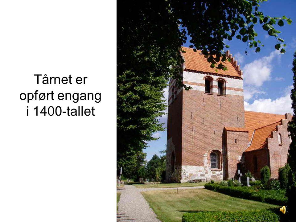 Tårnet er opført engang i 1400-tallet