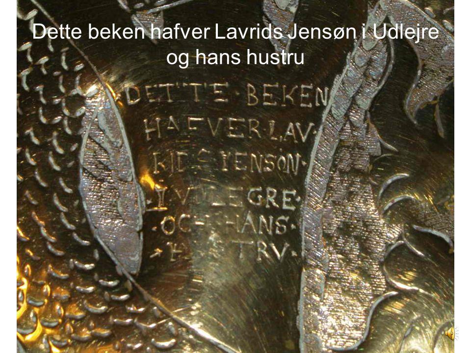 Dette beken hafver Lavrids Jensøn i Udlejre og hans hustru