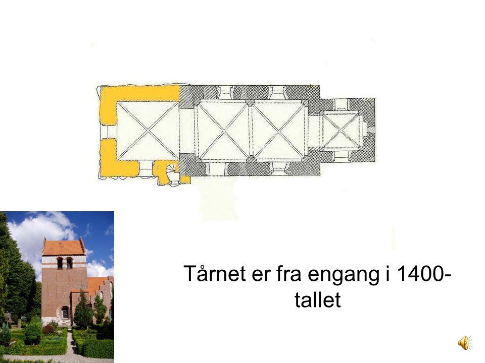 Tårnet er fra engang i 1400-tallet