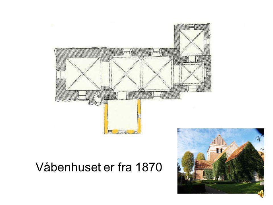 Våbenhuset er fra 1870