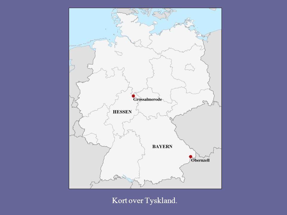 Kort over Tyskland.