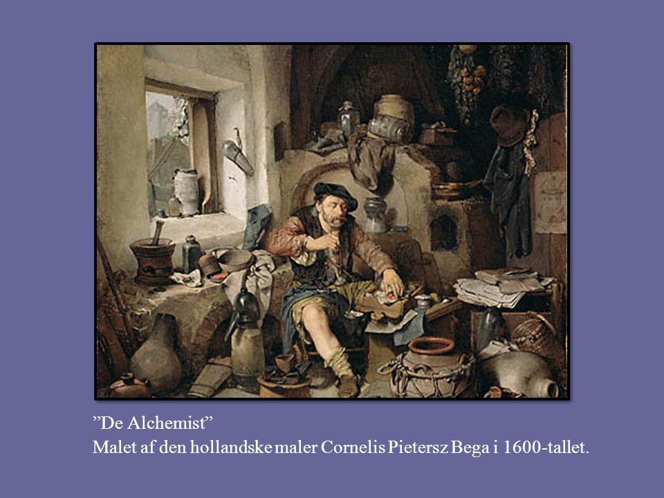 De Alchemist Malet af den hollandske maler Cornelis Pietersz Bega i 1600-tallet.