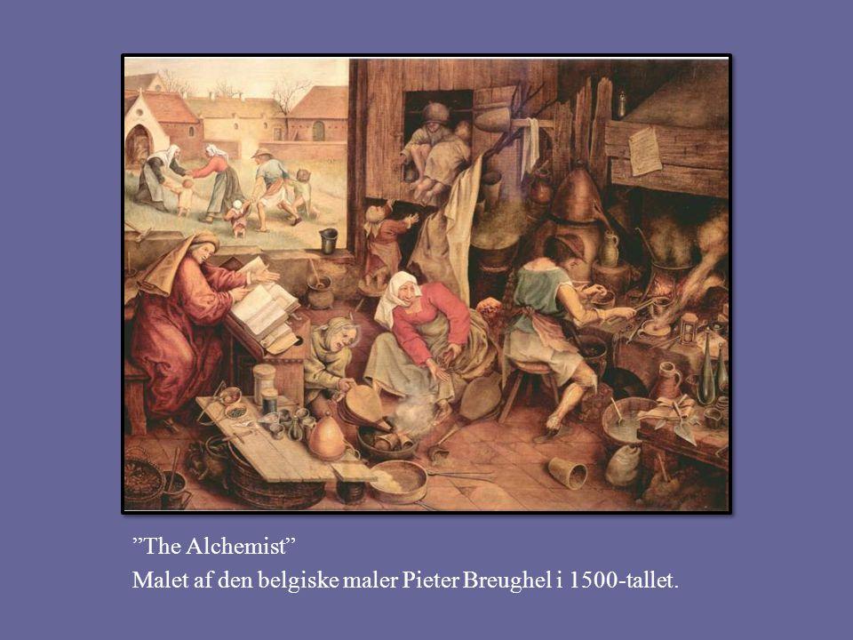 The Alchemist Malet af den belgiske maler Pieter Breughel i 1500-tallet.