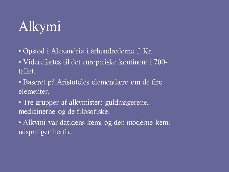 Alkymi Opstod i Alexandria i århundrederne f. Kr.
