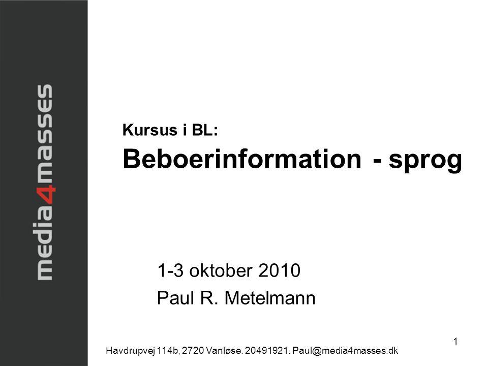 Kursus i BL: Beboerinformation - sprog