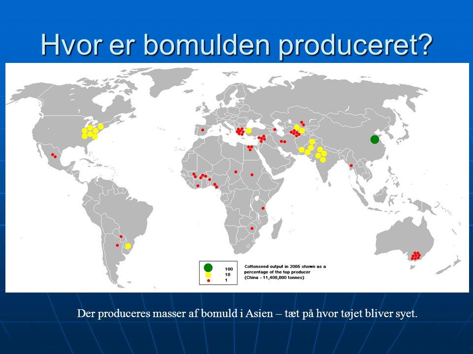 Hvor er bomulden produceret