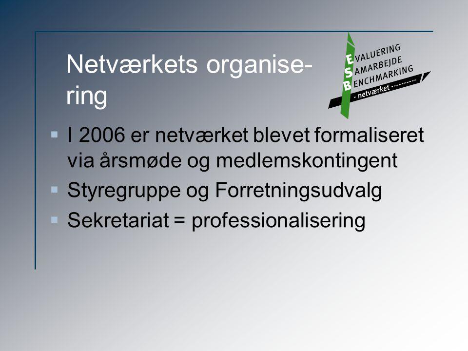 Netværkets organise- ring