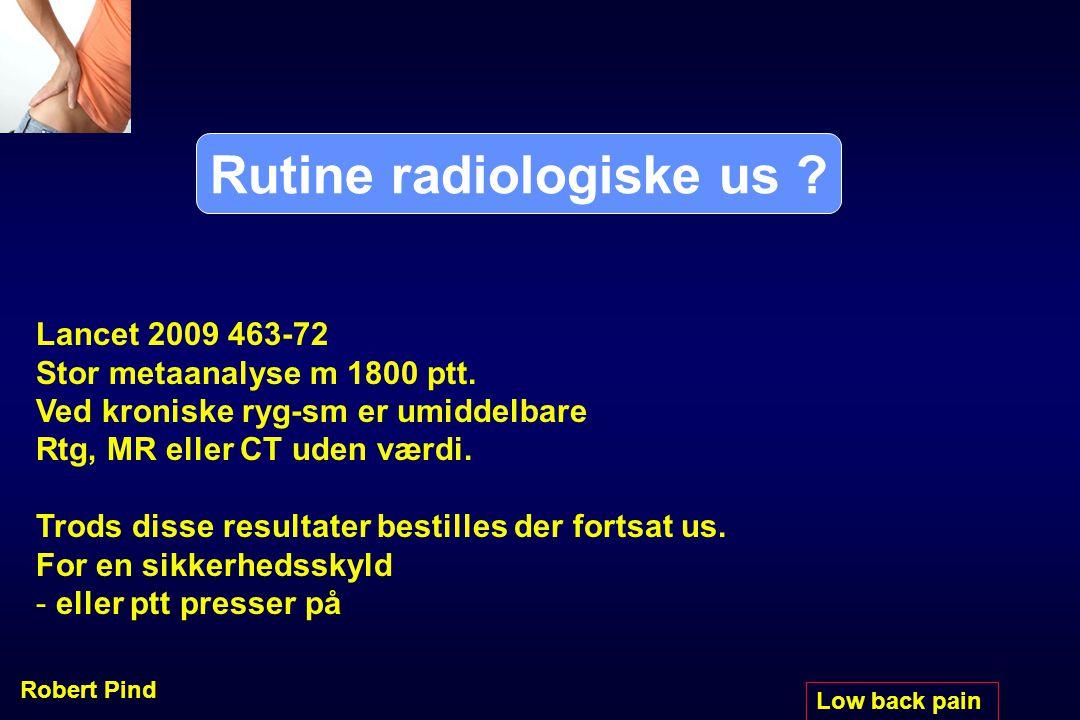 Rutine radiologiske us