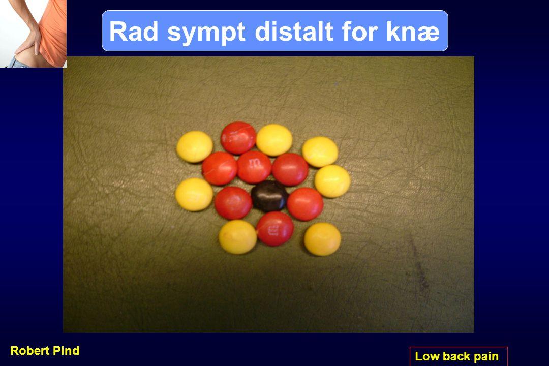 Rad sympt distalt for knæ
