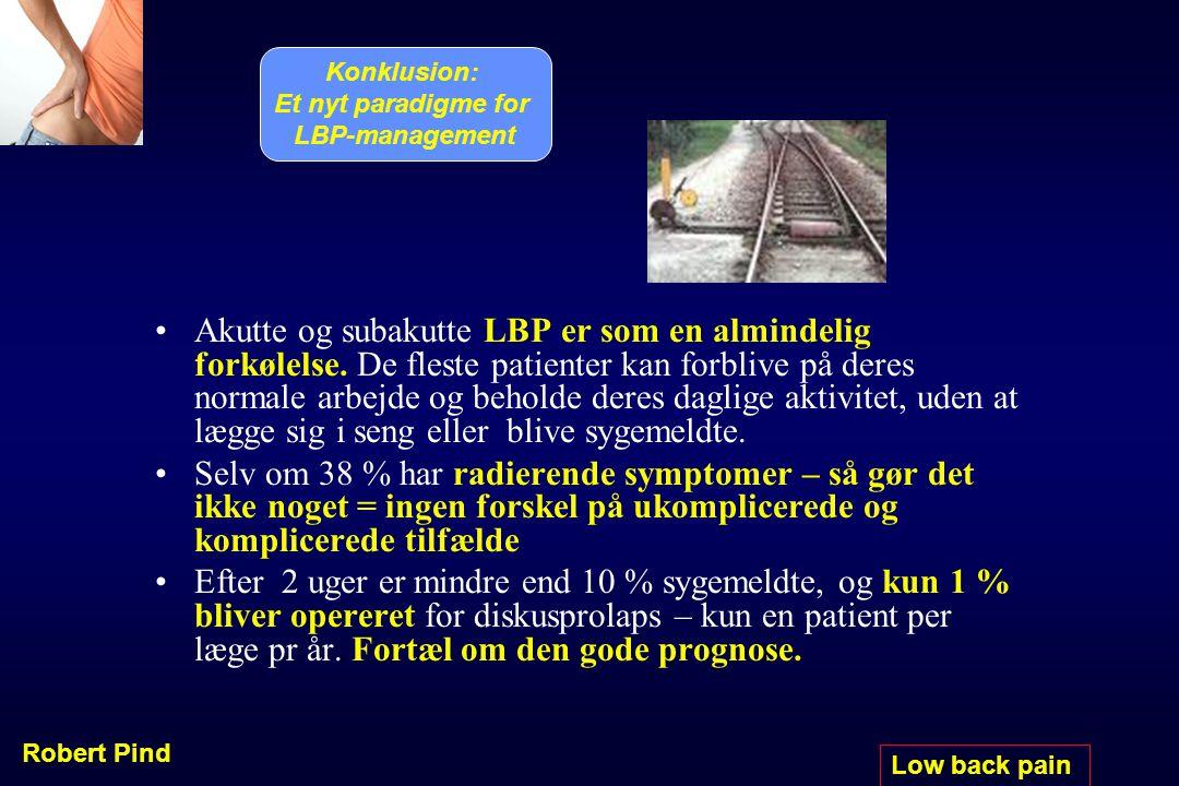 Konklusion: Et nyt paradigme for LBP-management