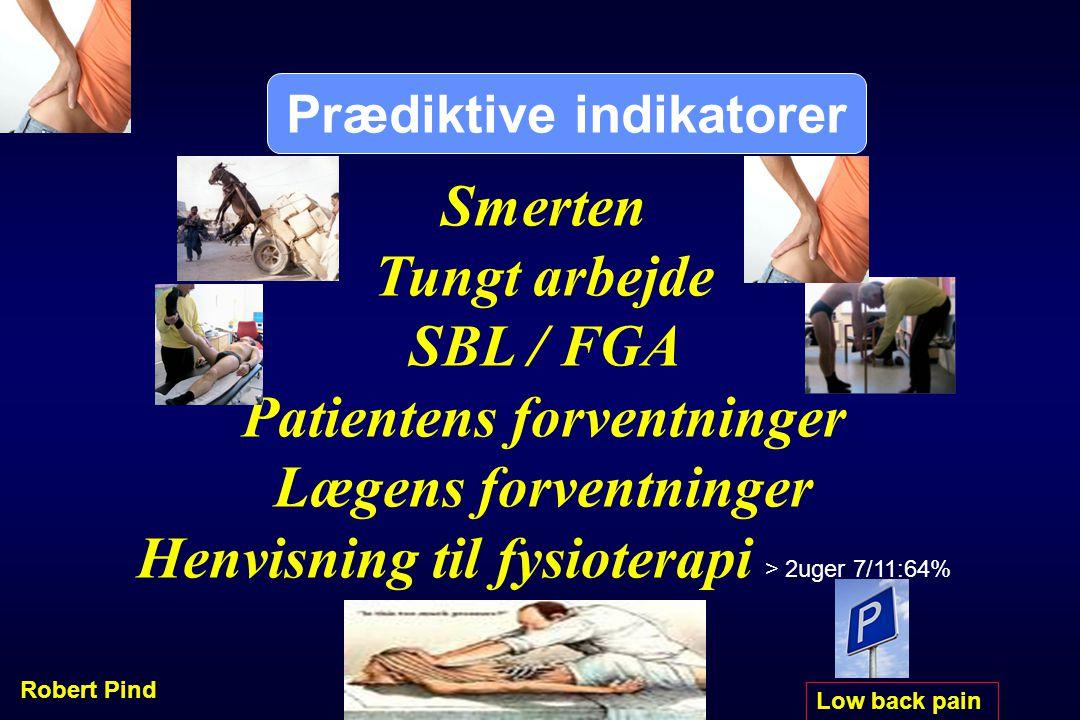 Prædiktive indikatorer Patientens forventninger