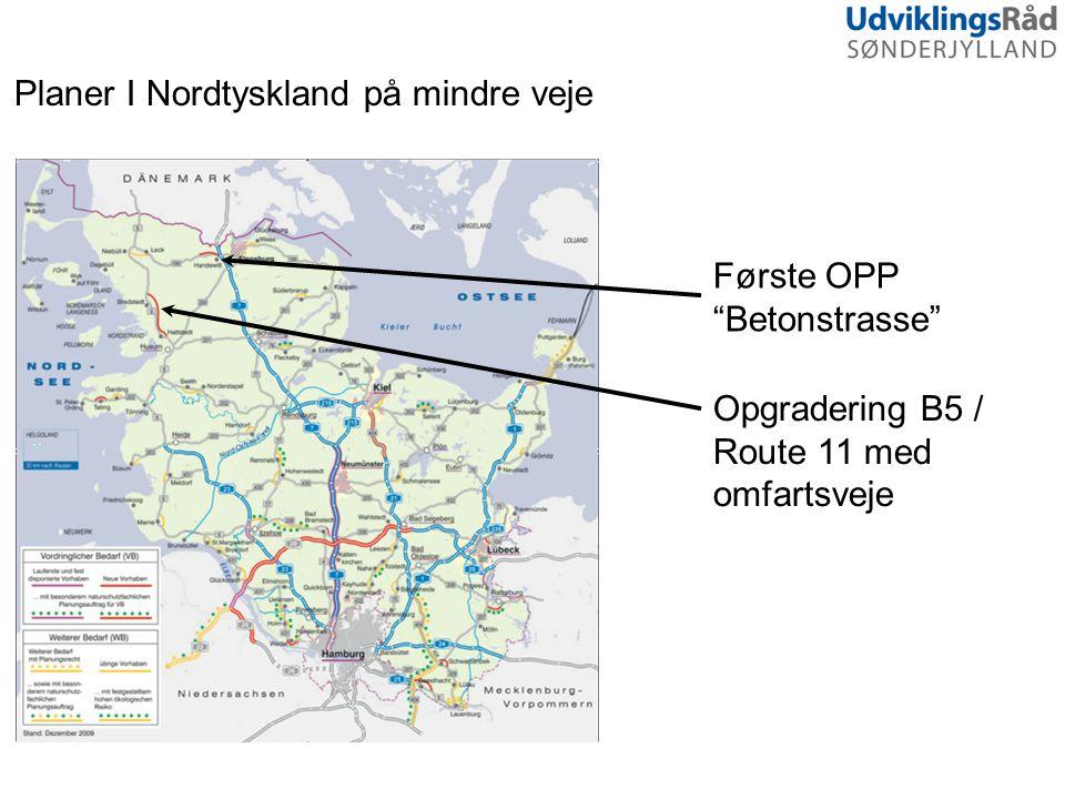 Planer I Nordtyskland på mindre veje