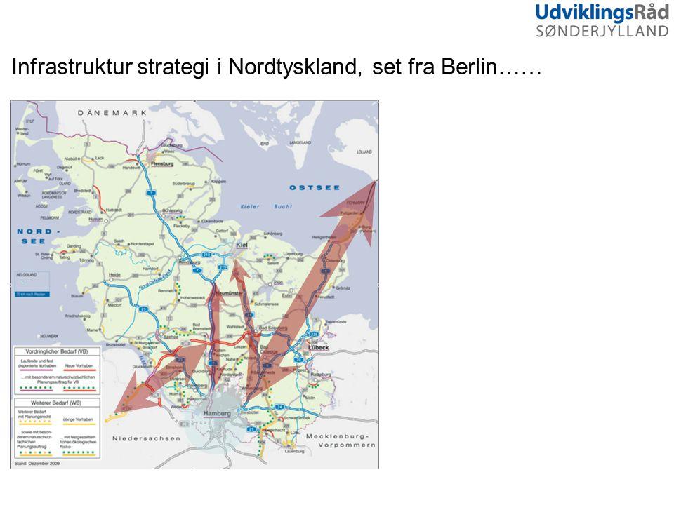 Infrastruktur strategi i Nordtyskland, set fra Berlin……