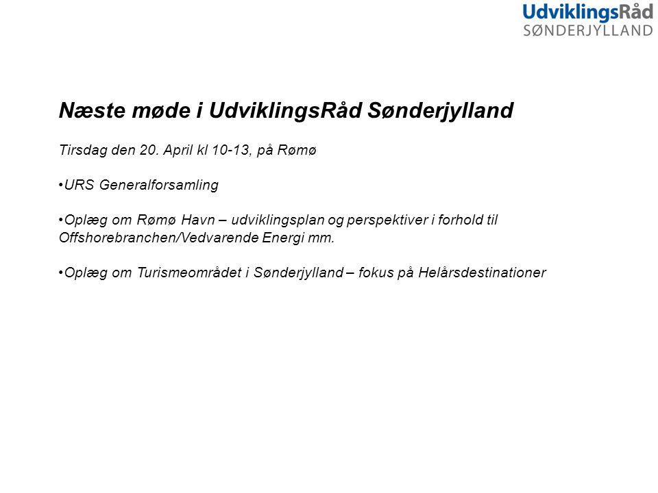 Næste møde i UdviklingsRåd Sønderjylland