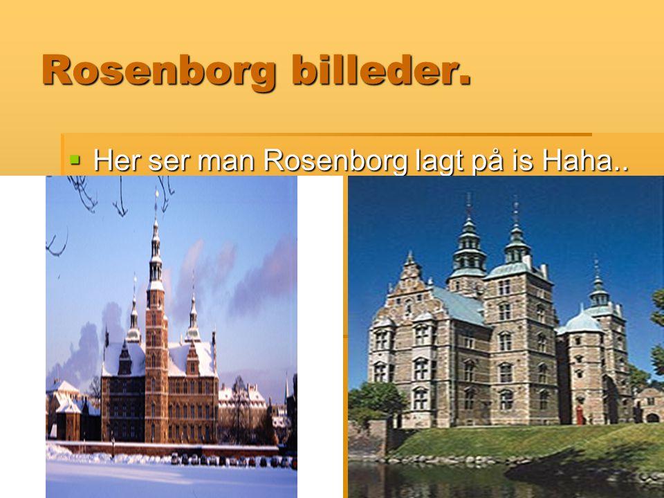 Rosenborg billeder. Her ser man Rosenborg lagt på is Haha..