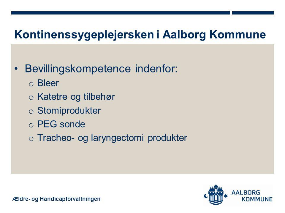 Kontinenssygeplejersken i Aalborg Kommune