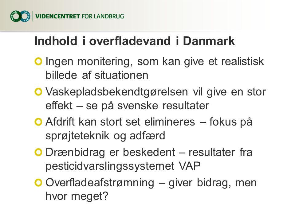 Indhold i overfladevand i Danmark