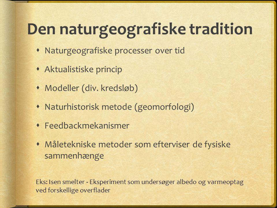 Den naturgeografiske tradition