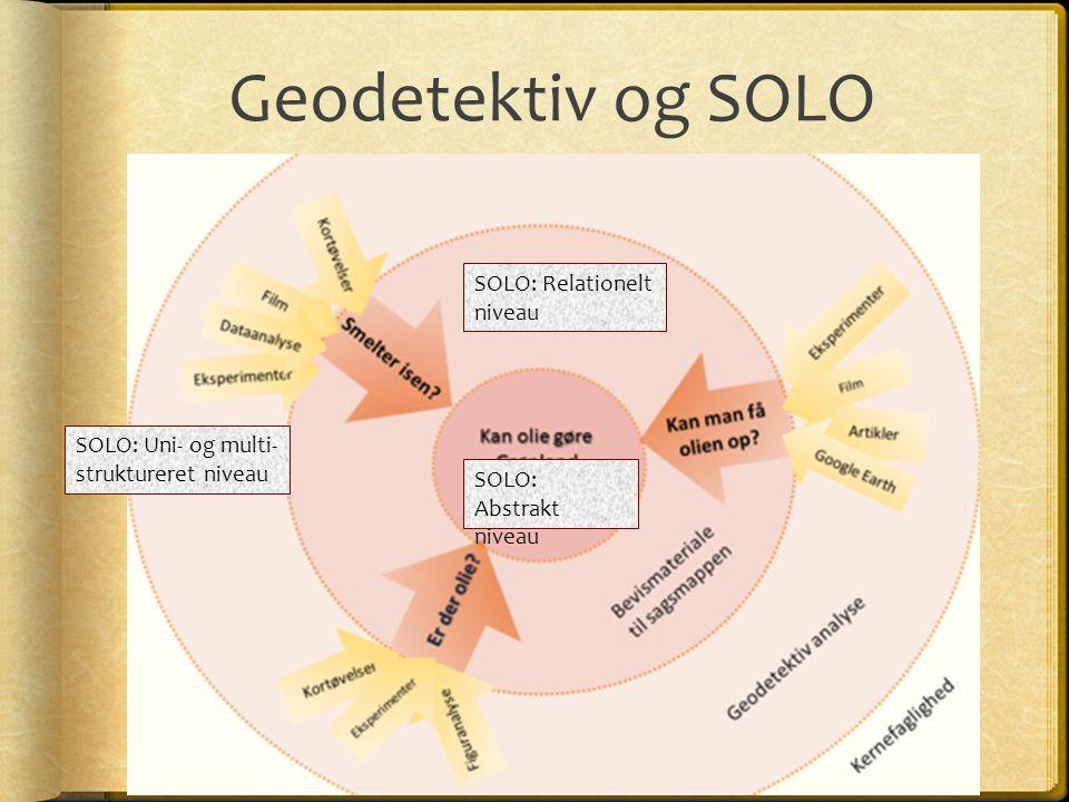 Geodetektiv og SOLO SOLO: Relationelt niveau SOLO: Uni- og multi-