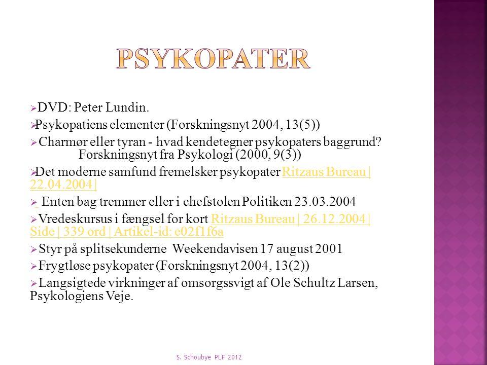 Psykopatiens elementer (Forskningsnyt 2004, 13(5))