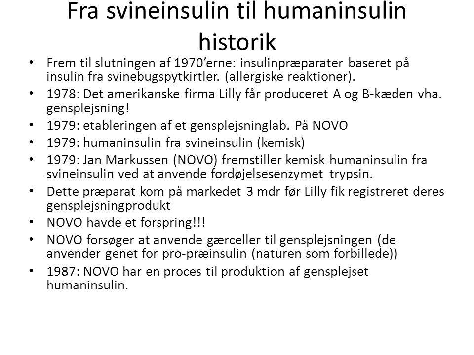 Fra svineinsulin til humaninsulin historik