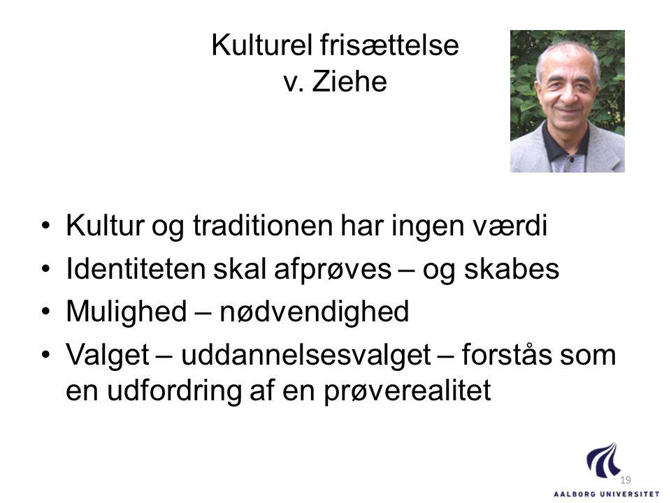 Kulturel frisættelse v. Ziehe
