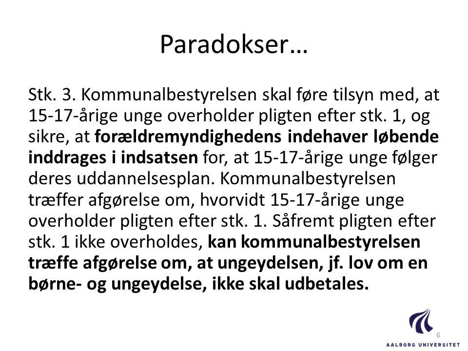 Paradokser…