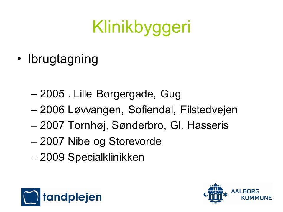 Klinikbyggeri Ibrugtagning 2005 . Lille Borgergade, Gug