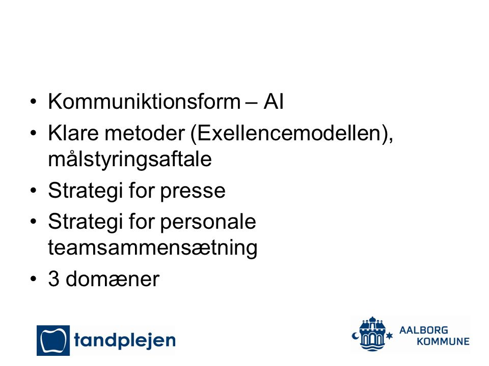 Kommuniktionsform – AI