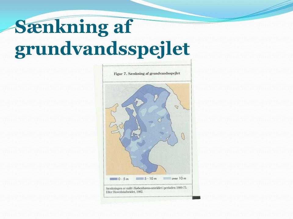 Sænkning af grundvandsspejlet
