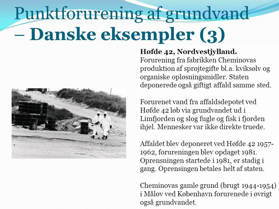 Punktforurening af grundvand – Danske eksempler (3)