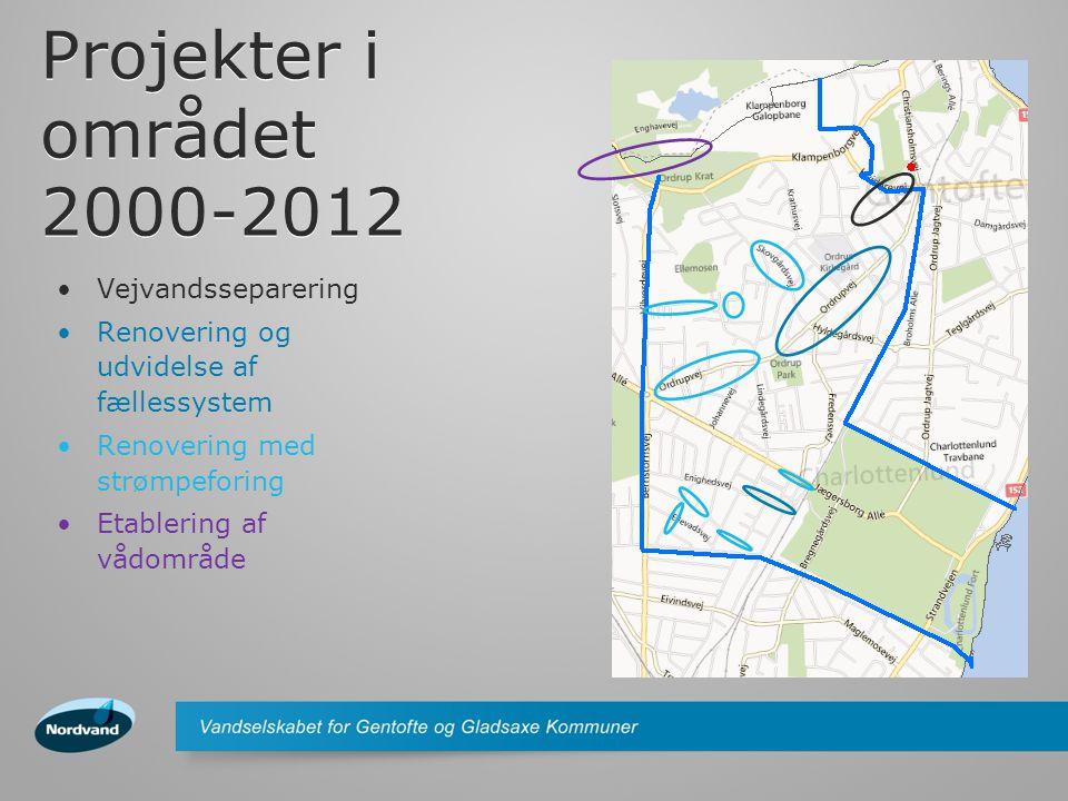 Projekter i området 2000-2012 Vejvandsseparering