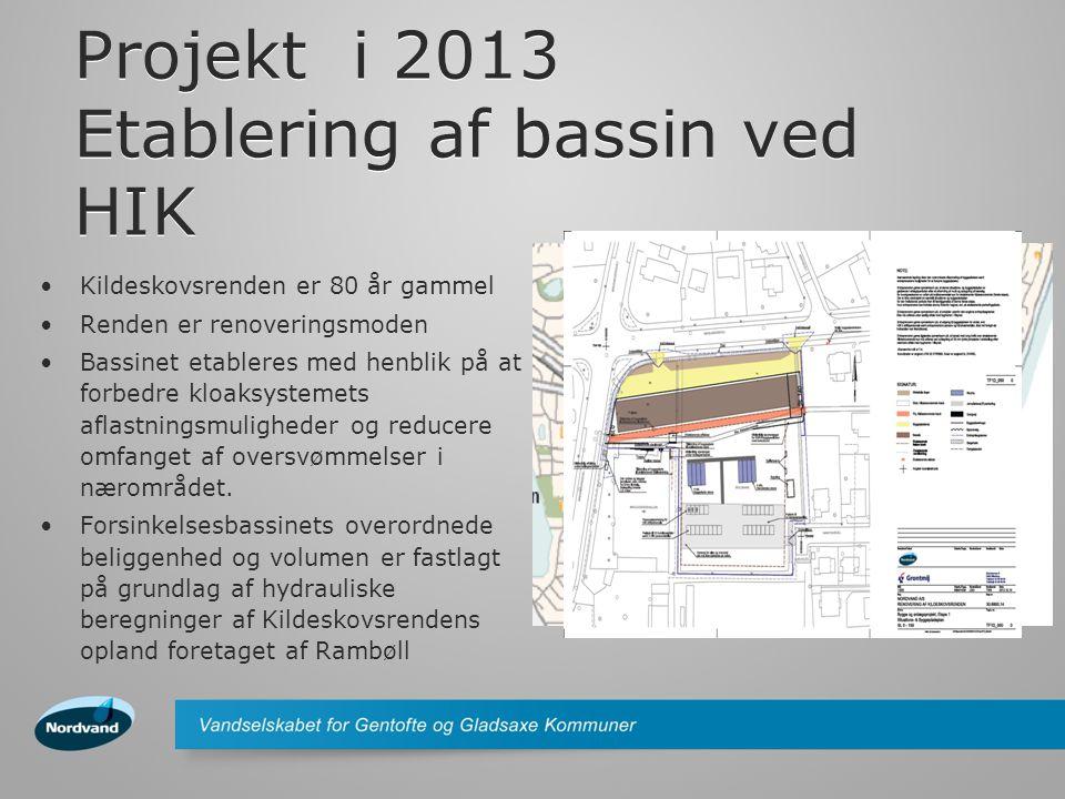 Projekt i 2013 Etablering af bassin ved HIK