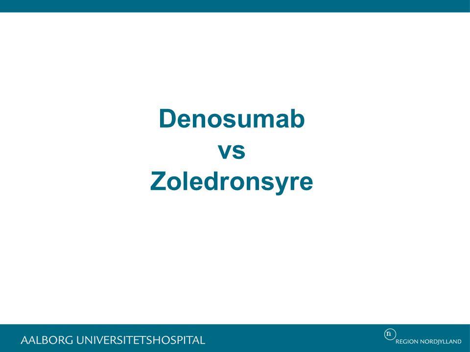 Denosumab vs Zoledronsyre