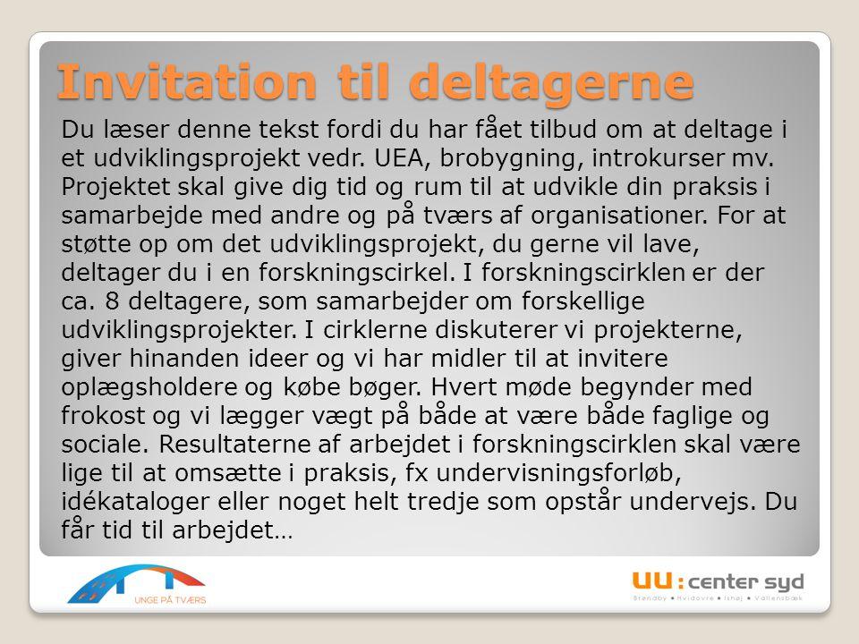 Invitation til deltagerne