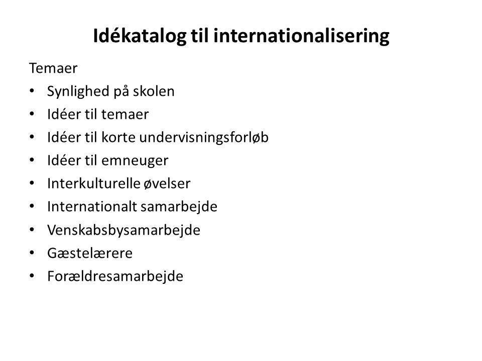 Idékatalog til internationalisering
