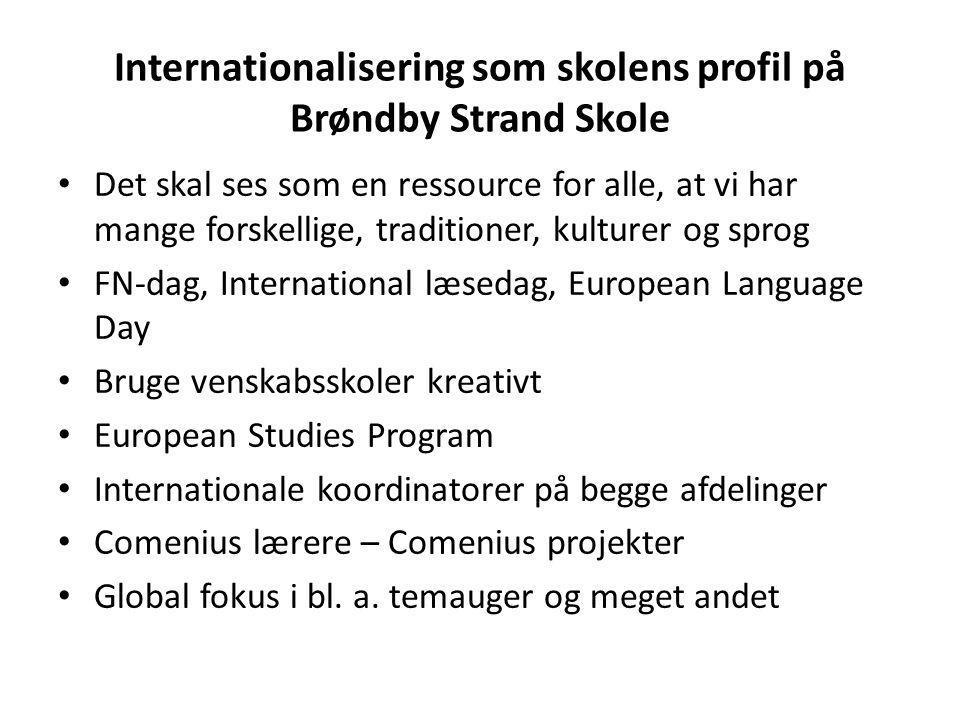 Internationalisering som skolens profil på Brøndby Strand Skole