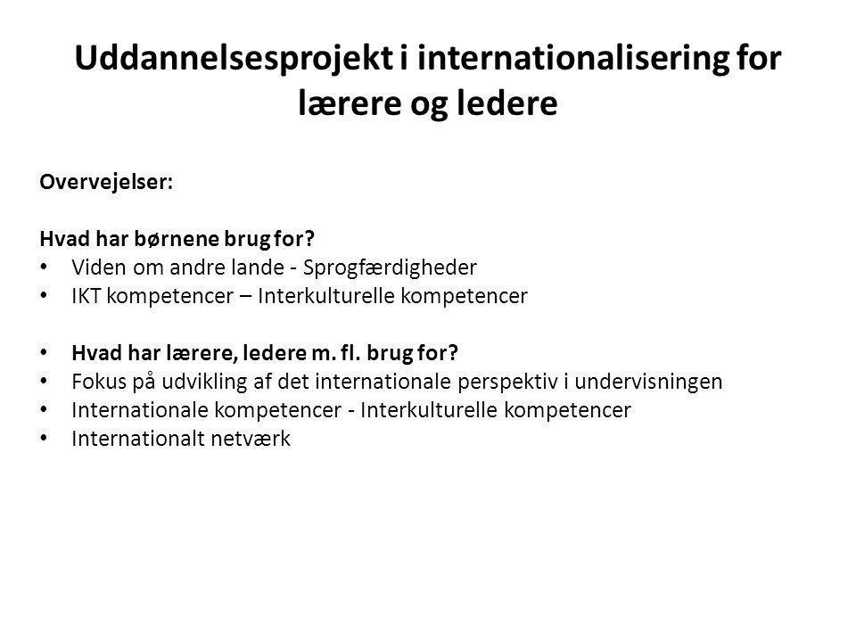 Uddannelsesprojekt i internationalisering for lærere og ledere