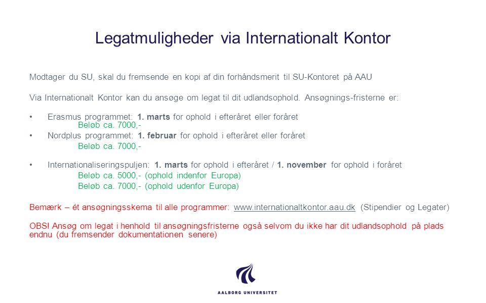 Legatmuligheder via Internationalt Kontor