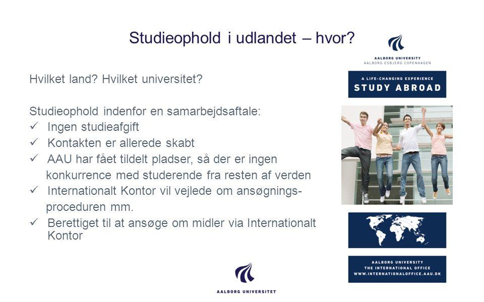Studieophold i udlandet – hvor