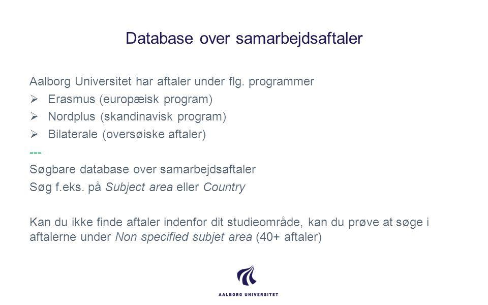Database over samarbejdsaftaler