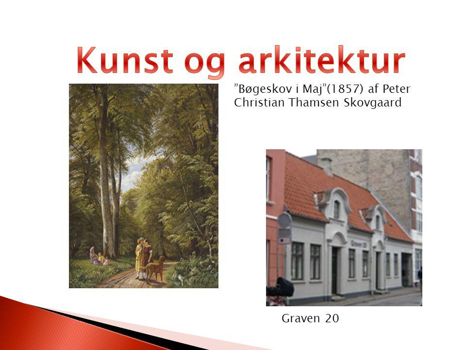 Kunst og arkitektur Bøgeskov i Maj (1857) af Peter Christian Thamsen Skovgaard.
