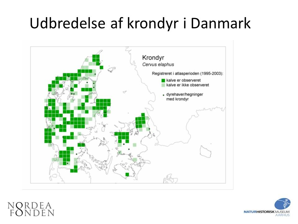 Udbredelse af krondyr i Danmark